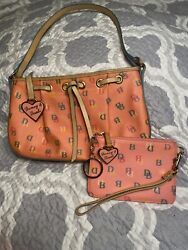Dooney and Bourke handbag amp; Coin Purse Lot Vintage Pink Candy Zipper Movie Props $25.99