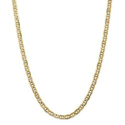 Leslieand039s Real 14kt 5.25mm Concave Anchor Chain 20 Inch