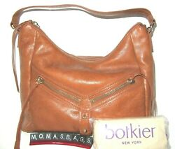 Botkier Trigger New Large Hobo In Luggage Color Leather Zip Top Handbag NWT $298 $119.99