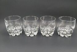 4 Crown Royal Bar Glasses Old-fasioned Rocks Etched Logo Weighted Base
