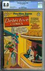 Detective Comics 183 Cgc 8.0 Ow/wh Pages // Win Mortimer Cover Golden Age