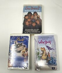 Lot Of 3 - The Little Rascals, We're Back A Dinosaur's Story, And Balto Vhs