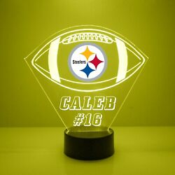 Pittsburgh Steelers Light Up, Personalized Free, Football Led Sports Fanlamp