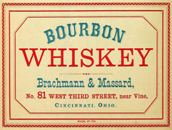 Vintage Bourbon Whiskey Ad Reproduction Metal Sign Free Shipping Home Bar Decor