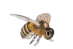 Saturno Sterling Silver And Enamel Bee, Very Large - 13322l
