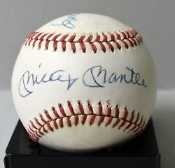 Mickey Mantle Ted Williams Estate Dual Signed Auto Autograph Baseball Jsa/dna