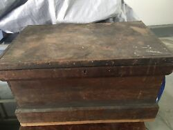 Antique Tool Chest-wooden Carpenters Tool Chest