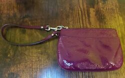 Small Coach Purple Wristlet Pre owned $10.99