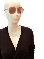 Marc Jacobs Pink Gold Aviator Pink Mirrored Sunglasses New 58 16 $31.50