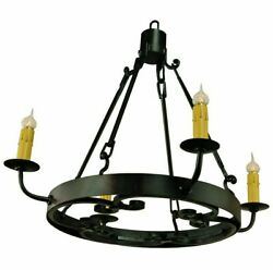 30 Flaminia 4light Chandelier Forged Ironwork