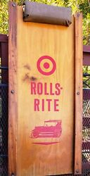 Vintage Rolls Rite Wood Mechanics Creeper Nice Condition And Rolls Easily