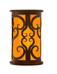 11 H Cirillo Set Of Two Sconce Amber Onyx Shade