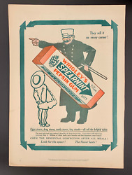 1911 Wrigley's Spearmint Ad / Collier's Cover Newspaper Fat Cat By Louis Fancher