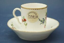 Cup And Saucer With Coffee Flower Decoration Meissen Porcelain 1800 Xix Christieand039s