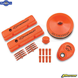 Proform Complete Dress-up Kit Orange Finish For 1958-1986 Chevy Small Block