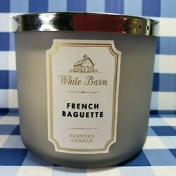 Bath amp; Body Works FRENCH BAGUETTE 3 Wick WHITE BARN Candle 14.5oz BAKERY BREAD $36.00