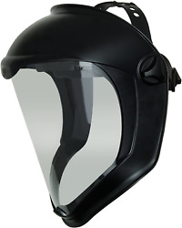 Uvex Bionic Face Shield With Clear Polycarbonate Visor And Anti-fog Hard Coat