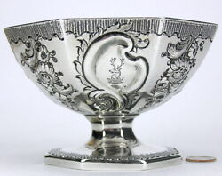 English London Georgian Solid Sterling Silver Compote Wakelin And Taylor C1786