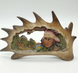 Southwestern Reflections Collection Native American Moose H Chief Horse Diorama