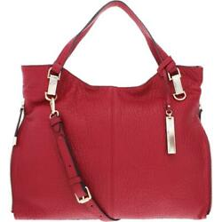 Vince Camuto Womens Eliza Red Pebbled Leather Tote Handbag Purse Large BHFO 8596 $59.99