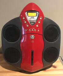 Vintage Jvc Boombox Backpack Stereo Rs-wp1 Cd Player Radio Cassette Rare Red