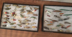 Vtg Lot Of Old Hand Made 1940andrsquosfishing Lures-andldquolee Batesandrdquo Alliance0hio-approx 70