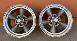 E-t Classic Vandtrade Torque Thrust Style 5 Spoke Wheels Tires Hot Rat Rod Custom Mopar