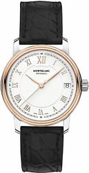 Menand039s Tradition 37mm Alligator Leather Band Automatic Watch 114368