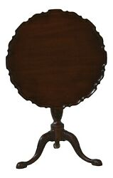 32236ec Henkel Harris Ball And Claw Carved Mahogany Tilt Top Table