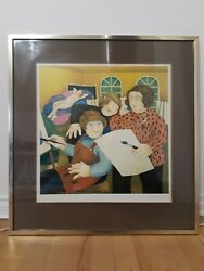 Beryl Cook Signed Limited Edition Print In Gold Frame And039art Classand039 65andtimes62cm 1979