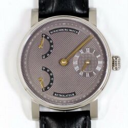 Schaumburg Watch Retrolateur Hand Winding Gray Dial Stainless Leather Menand039s