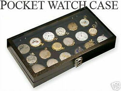Watch Show Case Display Antique Jewelry Supply Box For 18 Pocket Watches
