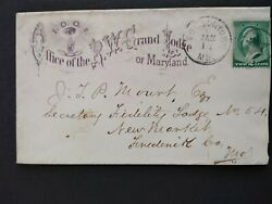Maryland Towsontown 1889 Circa 213 Ioof Grand Lodge Advertising Cover