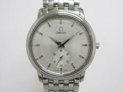 Omega De Ville Prestige Hand Winding Silver Dial Small Second Stainless Men's