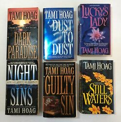Lot Of 6 Tami Hoag Paperback Books - Dust To Dust Luckyand039s Lady Still Waters Etc.