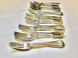 Antique Mixed Lot Silver Plated Epns Table Forks 34 Items England