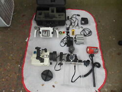 Vintage Nikonos Camera Makosubstrobe Case And Other Accesories Sold As 1 Lot.