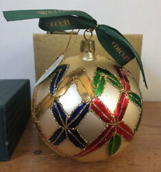 """Waterford Holiday Heirlooms Large Lismore Ball 5"""" Christmas Ornament With Box"""