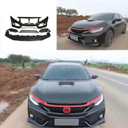 Fit For Honda Civic Si 2016-2020 Front Skid Plate Bumper Board Guard Unpainted