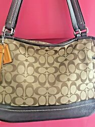 Coach Signature Purse Brown Hobo Shoulder Hand Bag $42.00