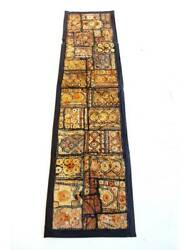 Hand Embroidered Fine Patches Wall Tapestry Table Runner Throw From India