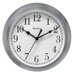 Westclox Wall Clock Simplicity Analog Round Home Office Clock 46984 New Silver