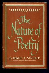 Stauffer, Donald A. The Nature Of Poetry. Highly Regarded Princeton Professor