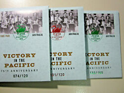 Perth Stamp And Coin Show 2020 - Set Of 3 Limited Edition Victory In Pacific Pncs