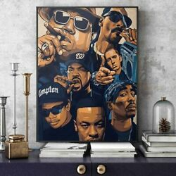 West Coast Gangster Rappers Music Posters Hip Hop Artists Canvas Wall Art Decor