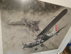 Wwii Stinson L-5 Sentinel Looking For Survivors. Print By Tony Weddel 1986