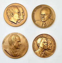 Vintage Inauguration Medals From Medallic Art Company, U.s. Mint, Franklin Mint
