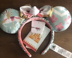 Minnie Mouse The Main Attraction King Arthur Carrousel July Ears Headband And Pins