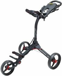 Bag Boy Compact 3 Push Cart Black / Silver Free 1-3 Days Priority Mail