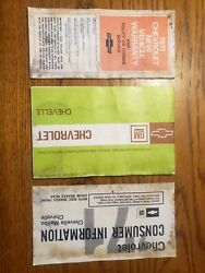 1971 Chevelle Warranty Protecto Plate Booklet Owners Manual Consumer Information